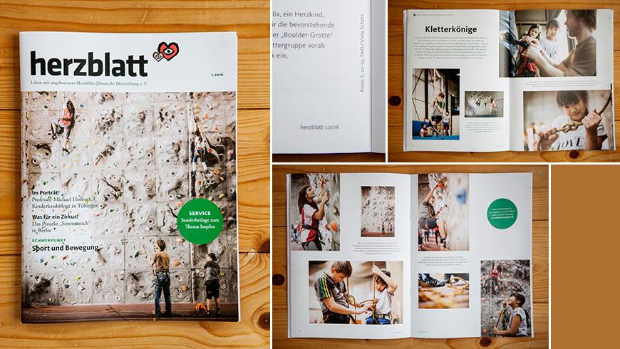 Bilder von Kindern beim Klettern fuer Magazin Herzblatt